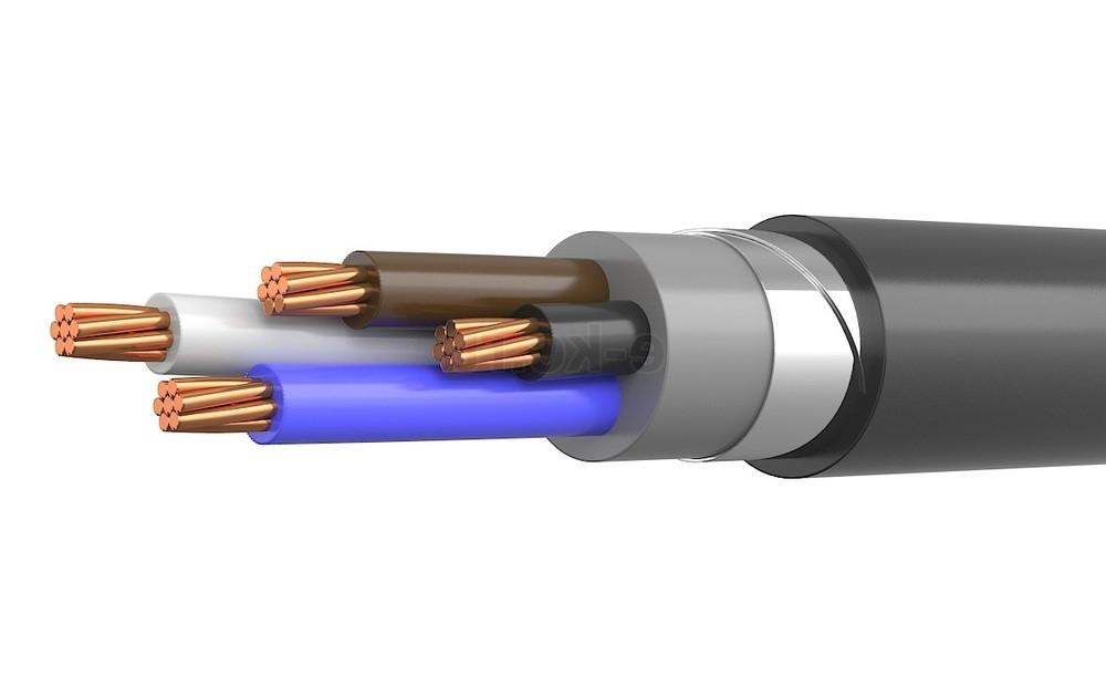 Силовий мідний броньований кабель ВБбШв 3*70 +1*35