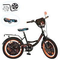 Детский велосипед 20д GR 0005 Generator Rex, черно-оранжевый