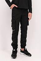 Штаны карго для мальчика черные, школьные брюки для мальчика Рост 122,128,134,140,146,152