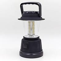Ліхтар на батарейках для кемпінгу світлодіодний пластиковий переносний Zelart Чорний (TY-802)