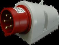 Штепсель настенный IPN (IP 44), 16A, 400V, 5 полюсов