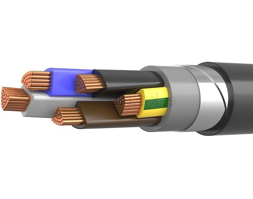 Силовий мідний броньований кабель ВббШв 5*240