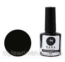 Лак-фарба для стемпинга Saga чорна 8мл з липким шаром
