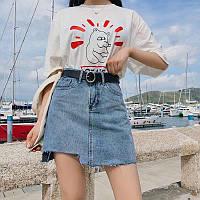 """Спідниця жіноча джинсова, молодіжна,рванка, розміри S-M (синій) """"MILANA"""" купити недорого від прямого постачальника"""