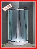 Душевая кабина SANTEH ROLA 1001-R 100*100 низкий поддон, стекло с узором