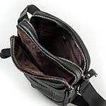 Сумка планшет мужская кожаная через плечо DR. BOND черная (06-103), фото 2