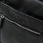 Сумка планшет мужская кожаная через плечо DR. BOND черная (06-103), фото 3