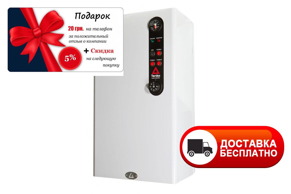 Электрический котел Tenko 12 кВт Стандарт + 380 В СПКЕ с насосом и баком