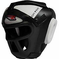 Боксерский шлем тренировочный RDX Guard White.  Белый