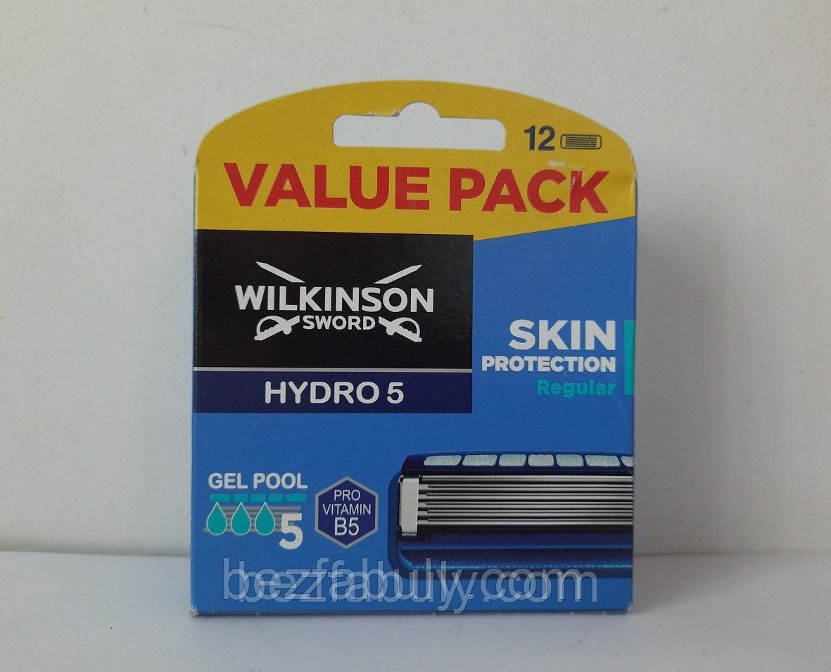 Кассеты Schick Wilkinson Sword  Hydro 5 Regular (Шик гидро 5) 12 шт.