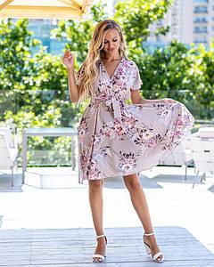 Красивое платье в цветочек 006 (МАК)