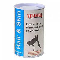 VitamAll (ВитамОлл) Hair&Skin витамины для собак и кошек, 200 г.