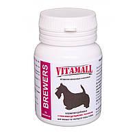 Кормовая добавка с пивными дрожжами и часныком малые и средние породы собак 70т,VitamAll (ВитамОлл).
