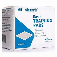 Пеленки для собак 71х86 см, 40 шт, All-Absorb (Олл-Абсорб) Basic