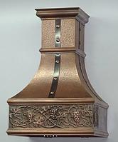 Мідна витяжка кухонна купольна 90 см х 90 см, фото 1