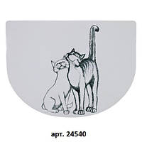 Коврик под миску Pussycat 40х30 см, белый
