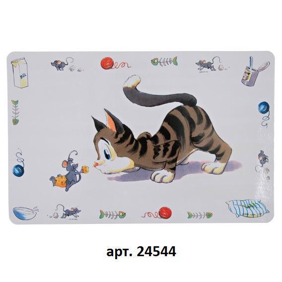Коврик под миску Comic cat 44х28 см.