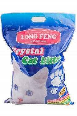 Силикагелевый наполнитель LONG FENG 1,6 кг/3,8 л для кошачьего туалета