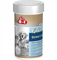 Витамины для кожи и шерсти собак и кошек, 260 шт 8 in 1 EXCEL BREWERS YEAST