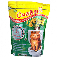 Силикагелевый наполнитель Смайлик 3,8 л (1 ,8 кг) для кошачьего туалета