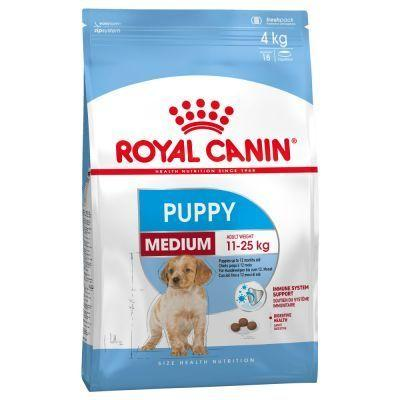 Корм Royal Canin Medium Puppy 4 кг для щенков от 2 до 12 месяцев