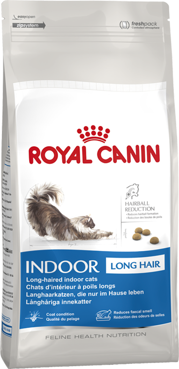 Royal Canin INDOOR Long Hair 2 кг - Корм для длинношерстных кошек