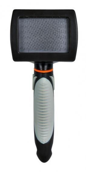 Щітка-пуходерка м'яка 12х20 см, ручка пластик