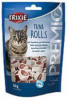 Роллы для котов Trixie - Premio Tuna Rolls (тунец курица) 50гр