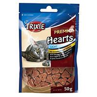 Сердечки для котов Trixie Hearts (утиная грудка минтай) 50 гр
