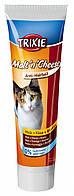 Паста для выведения комков шерсти у котов, с биотином Trixie Malt'n'Cheese (солод/сыр/биотин) 100гр