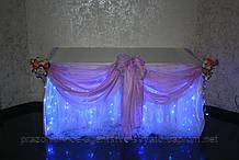 Свадебное оформление, драпировка стола (г.Николаев)