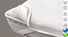 Непромокаючий наматрацник, 160х200 на резинці по кутах, двоспальний