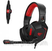 Наушники игровые с микрофоном и подсветкой HAVIT HV-H657D GAMING, black