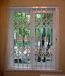 Раздвижные решетки на окна для квартиры