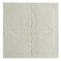 Самоклеющаяся декоративная потолочно-стеновая 3D панель орнамент 700x700x5.5мм