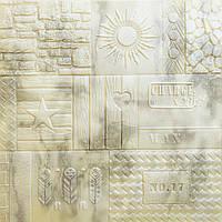 Самоклеюча декоративна 3D панель візерункова 700x700x7,5мм, фото 1