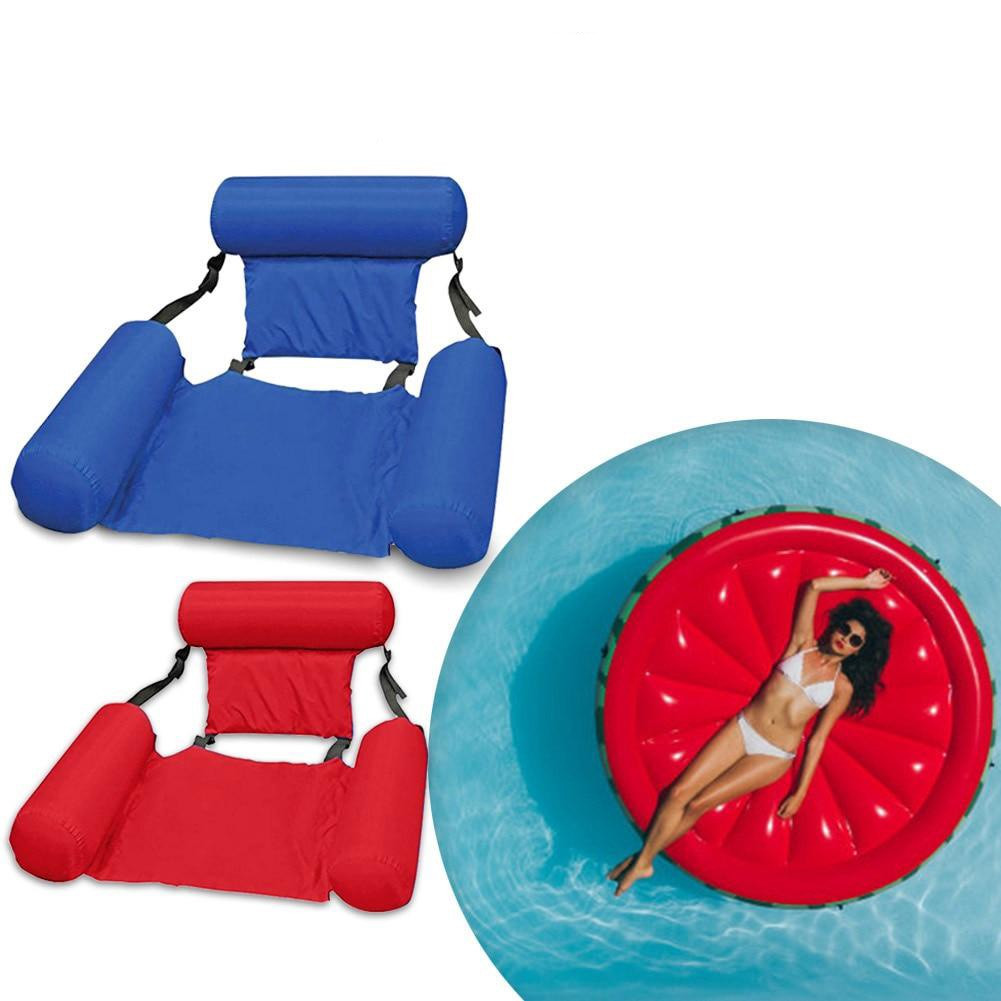 Inflatable floating bed Надувное пляжное кресло-гамак, надувной складной матрас для отдыха со спинкой