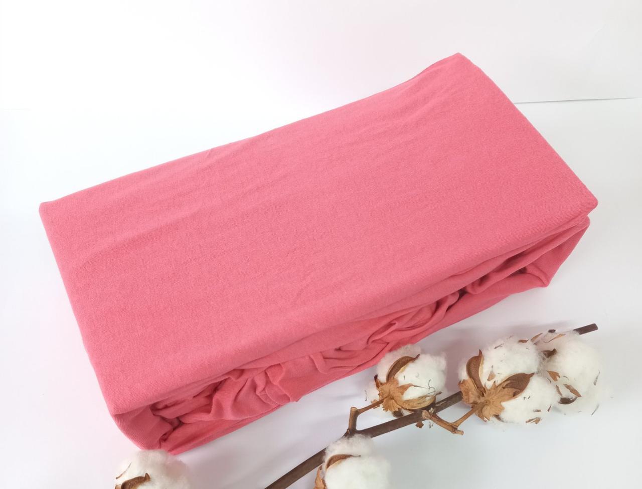 Простинь на резинке АЕ 160x200 Розовая