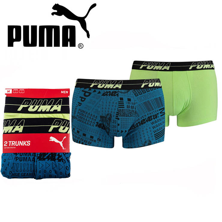 Труси Puma Boxers XL (2 шт) Синій/Зелений, фото 2