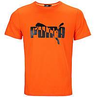 Футболка спортивная мужская оранжевая PUMA №2 Ф-10 ORN L(Р) 21-903-020