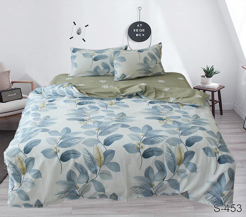 Двуспальный Евро комплект постельного белья Сатин Люкс с компаньоном S453