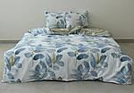 Двуспальный Евро комплект постельного белья Сатин Люкс с компаньоном S453, фото 2
