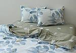 Двуспальный Евро комплект постельного белья Сатин Люкс с компаньоном S453, фото 4