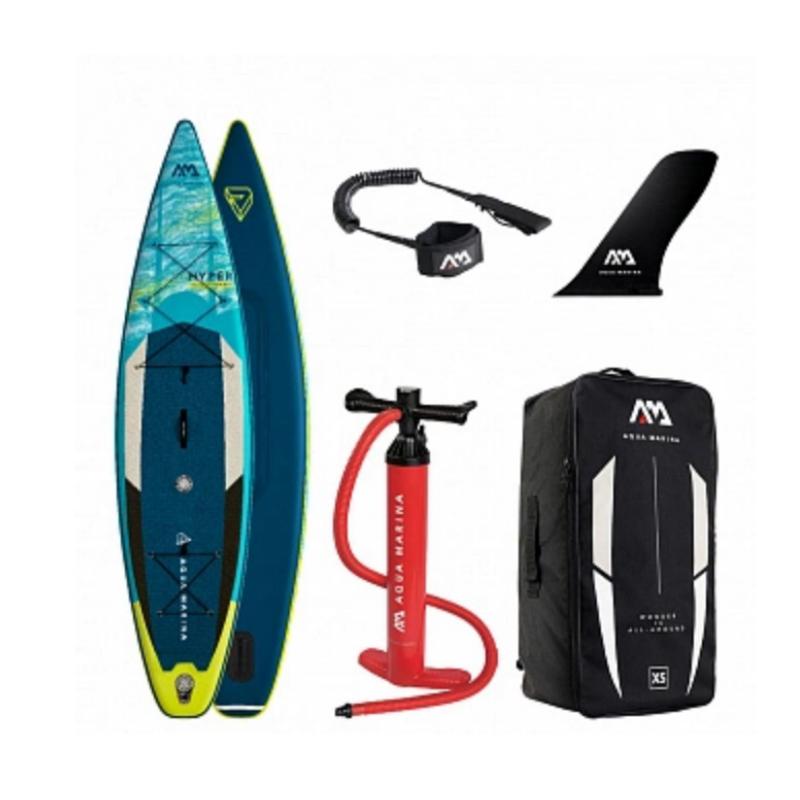 """Сапборд Aqua Marina Hyper Touring 12'6"""" 2021 - надувна дошка для САП серфінгу, sup board"""