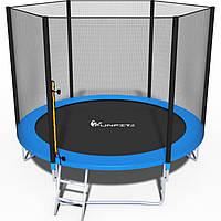 Батут спортивный детский каркасный для дома с защитной сеткой ограждением Funfit 252 см(10ft)