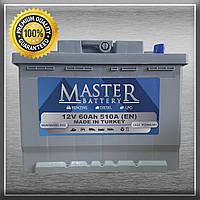 Акумулятор Master 6CT-60-1 60Ah/510A L+ 1 (Майстер) Автомобільний АКБ Кислотний Туреччина ПДВ