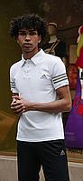 Чорно-білий річний комплект спортивний Adidas | Україна | поло + шорти, фото 1