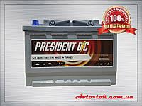 Акумулятор PRESIDENT 6CT-78-0 78Ah/780A R+ (Президент) Aco Group Автомобільний АКБ Кислотний Туреччина ПДВ