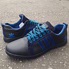 Кроссовки мужские Adidas р.41 кожа Харьков синие, фото 3