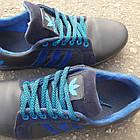 Кроссовки мужские Adidas р.41 кожа Харьков синие, фото 6